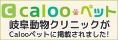 岐阜動物クリニックがCalooペットに掲載されました!